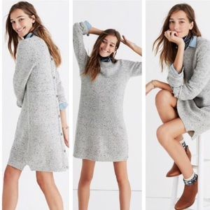 Madewell Grey Button Back Sweater Dress